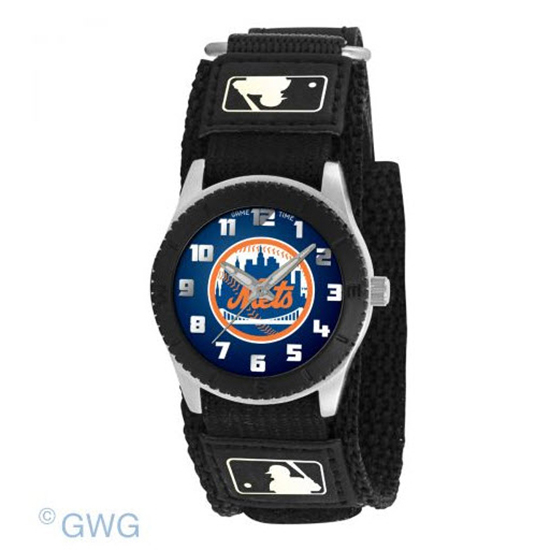 New York Mets Game Time MLB Rookie Black Juniors Unisex Watch MTO