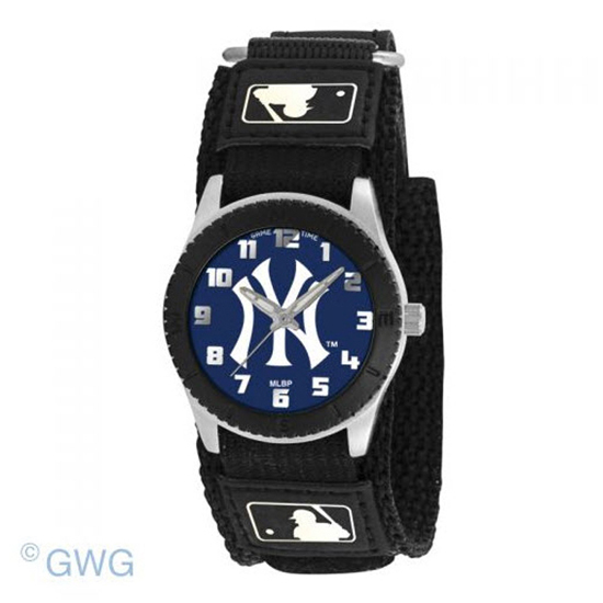 New York Yankees Solid Game Time MLB Rookie Black Juniors Unisex Watch MTO