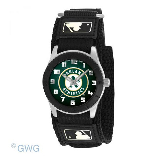 Oakland Athletics Solid Game Time MLB Rookie Black Juniors Unisex Watch MTO