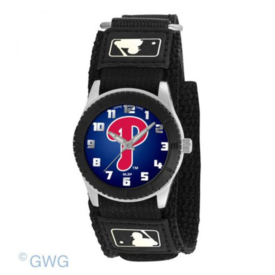 Philadelphia Phillies P Solid Game Time MLB Rookie Black Junior Unisex Watch MTO