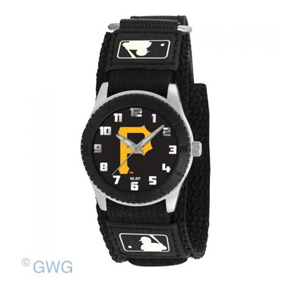 Pittsburgh Pirates Game Time MLB Rookie Black Juniors Unisex Watch MTO