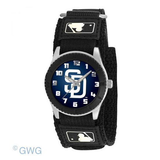San Diego Padres Game Time MLB Rookie Black Juniors Unisex Watch MTO