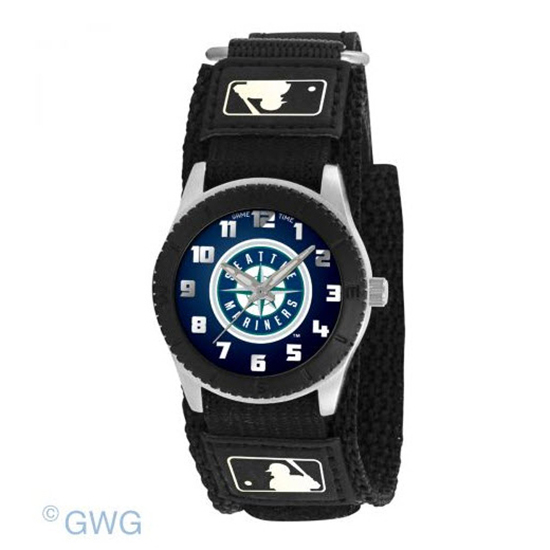 Seattle Mariners Game Time MLB Rookie Black Juniors Unisex Watch MTO