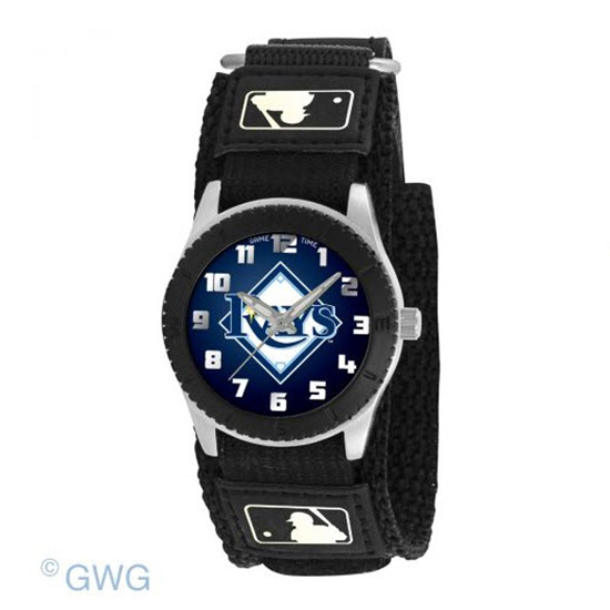 Tampa Bay Rays Game Time MLB Rookie Black Juniors Unisex Watch MTO