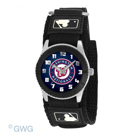 Washington Nationals Game Time MLB Rookie Black Juniors Unisex Watch MTO