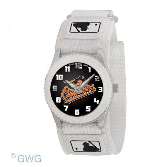 Baltimore Orioles Game Time MLB Rookie White Juniors Unisex Watch MTO