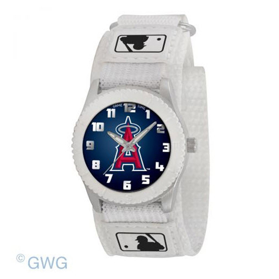 Los Angeles Angels Game Time MLB Rookie White Juniors Cuff Unisex Watch MTO