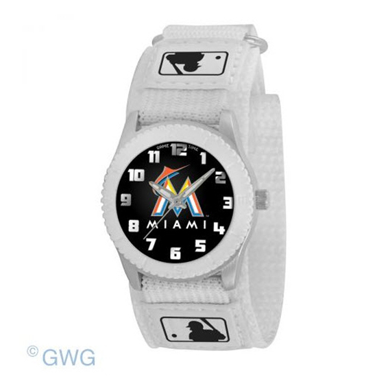 Miami Marlins Game Time MLB Rookie White Juniors Cuff Unisex Watch MTO
