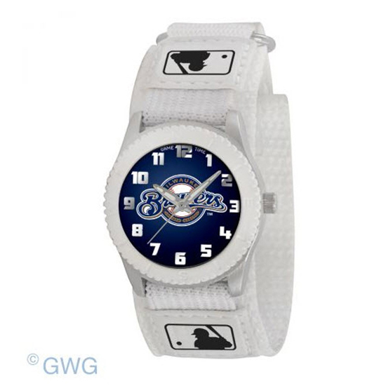 Milwaukee Brewers Game Time MLB Rookie White Juniors Cuff Unisex Watch MTO