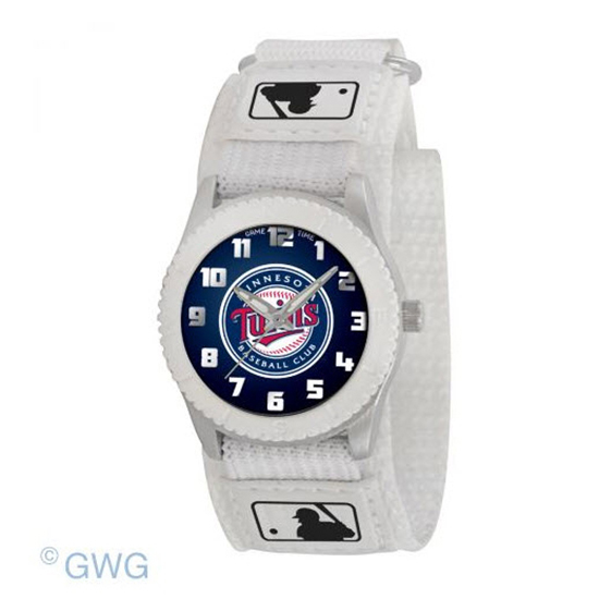 Minnesota Twins Game Time MLB Rookie White Juniors Cuff Unisex Watch MTO