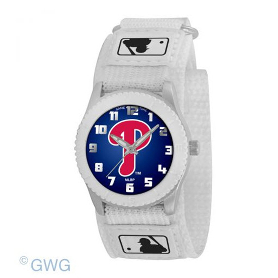 Philadelphia Phillies Game Time MLB Rookie White Juniors Unisex Watch MTO