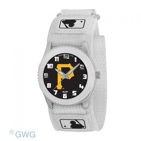 Pittsburgh Pirates P Logo Game Time MLB Rookie White Juniors Unisex Watch MTO