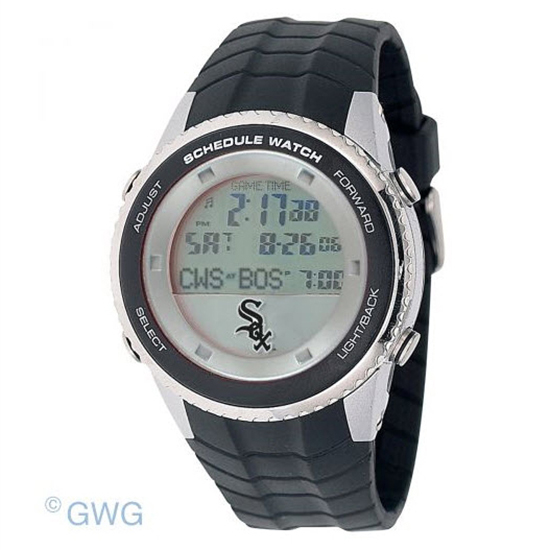 Chicago White Sox Game Time MLB Schedule Digital Black Men's Watch MTO