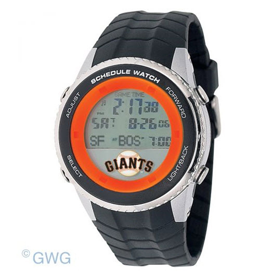 San Francisco Giants Game Time MLB Schedule Digital Black Men's Watch MTO