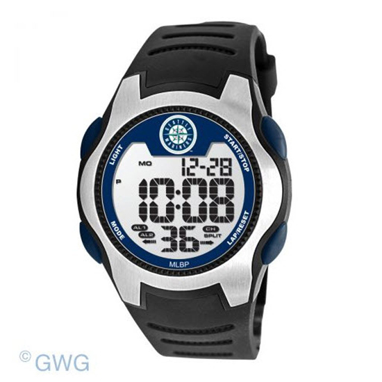 Seattle Mariners Game Time MLB Training Camp Digital Men's Watch MTO