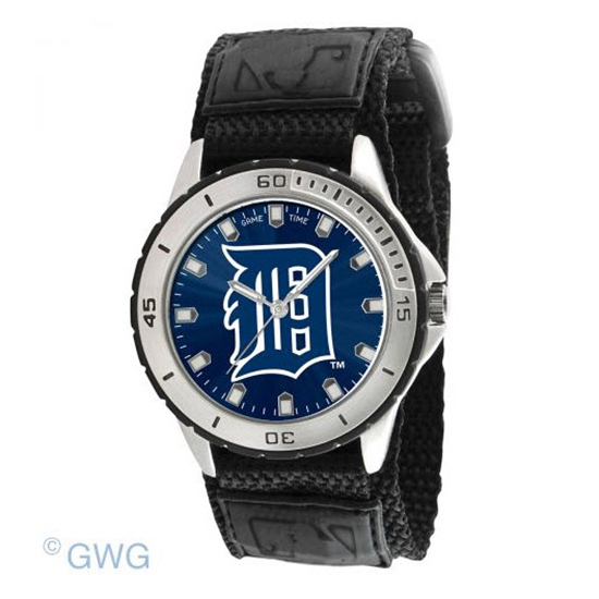 Detroit Tigers Game Time MLB Veteran Black Nylon Men's Watch MTO