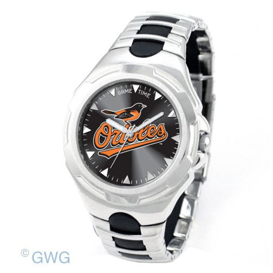 Baltimore Orioles Game Time Victory Silver Tone Men's Watch MTO