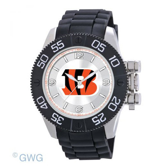Cincinnati Bengals NFL Game Time Black Polyurethane Men Watch MTO