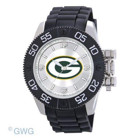 Green Bay Packers NFL Game Time Black Polyurethane Men Watch MTO