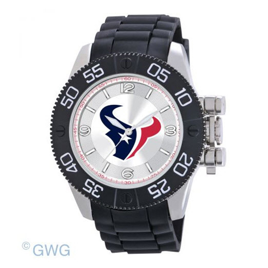 Houston Texans NFL Game Time Black Polyurethane Men Watch MTO