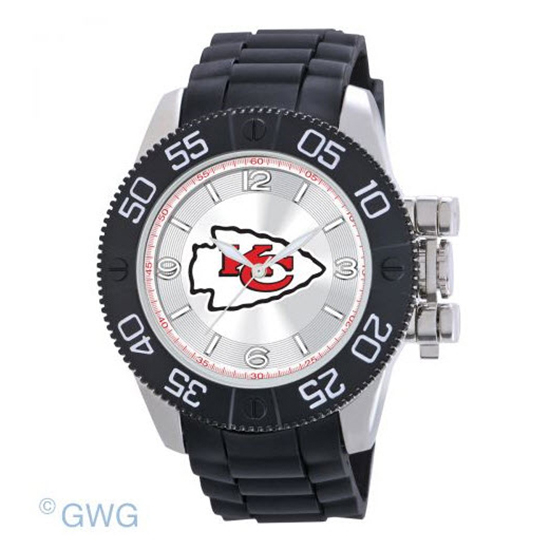 Kansas City Chiefs NFL Game Time Black Polyurethane Men Watch MTO