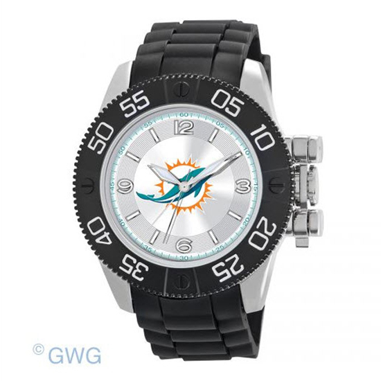 Miami Dolphins NFL Game Time Black Polyurethane Men Watch MTO