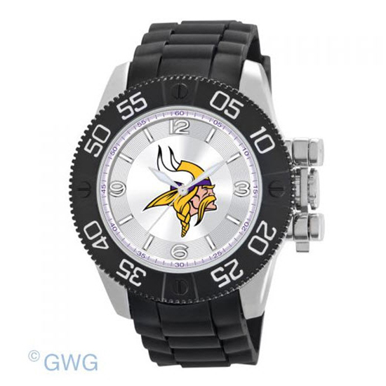 Minnesota Vikings NFL Game Time Black Polyurethane Men Watch MTO