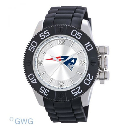 New England Patriots NFL Game Time Black Polyurethane Men Watch MTO
