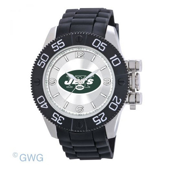 New Yorks Jets NFL Game Time Black Polyurethane Men Watch MTO