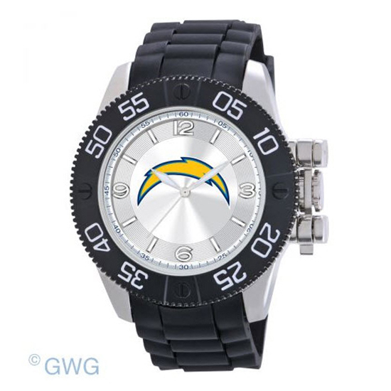 San Diego Chargers NFL Game Time Black Polyurethane Men Watch MTO