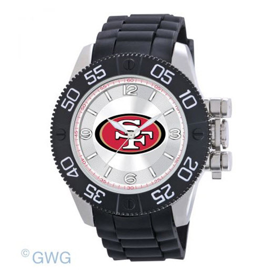 San Francisco 49ers NFL Game Time Black Polyurethane Men Watch MTO