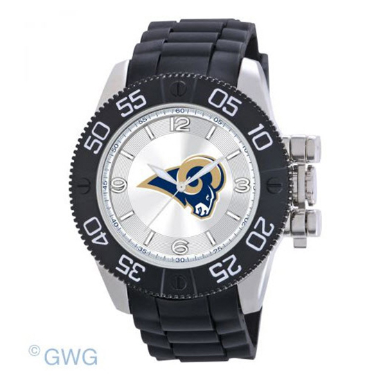 St Louis Rams NFL Game Time Black Polyurethane Men Watch MTO