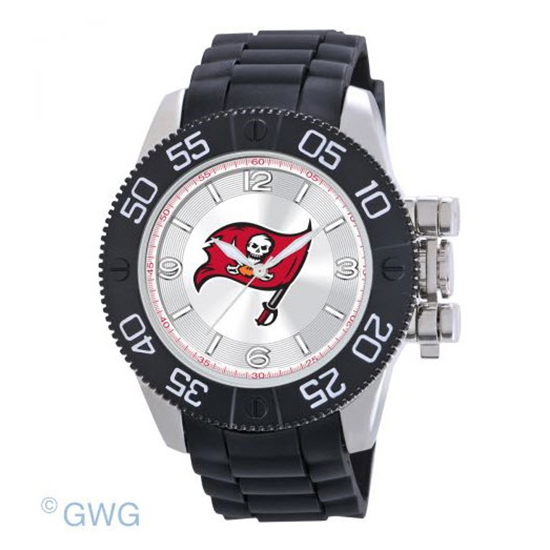 Tampa Bay Buccaneers NFL Game Time Black Polyurethane Men Watch MTO