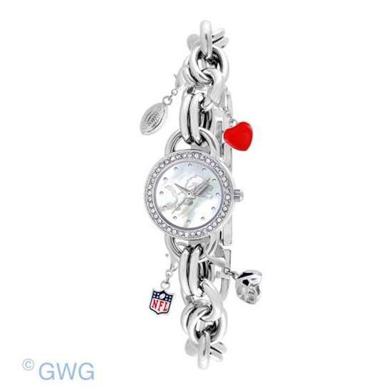 Detroit Lions Game Time NFL Charm Bracelet Women's Watch MTO