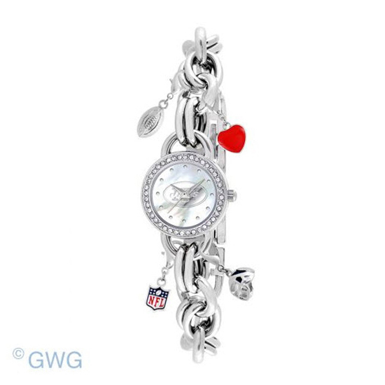 New York Jets Game Time NFL Charm Bracelet Women's Watch MTO