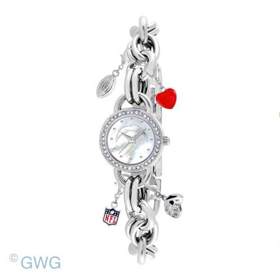 San Diego Chargers Game Time NFL Charm Bracelet Women's Watch MTO