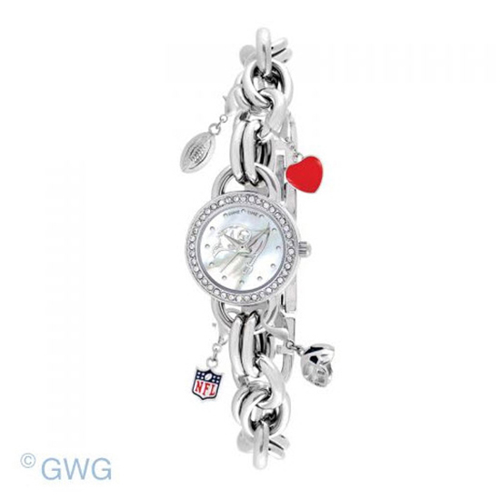 Tampa Bay Bucaneers Game Time NFL Charm Bracelet Women's Watch MTO
