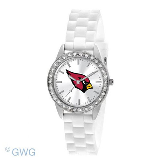Arizona Cardinals NFL Game Time Frost White Silicone Women's Watch MTO