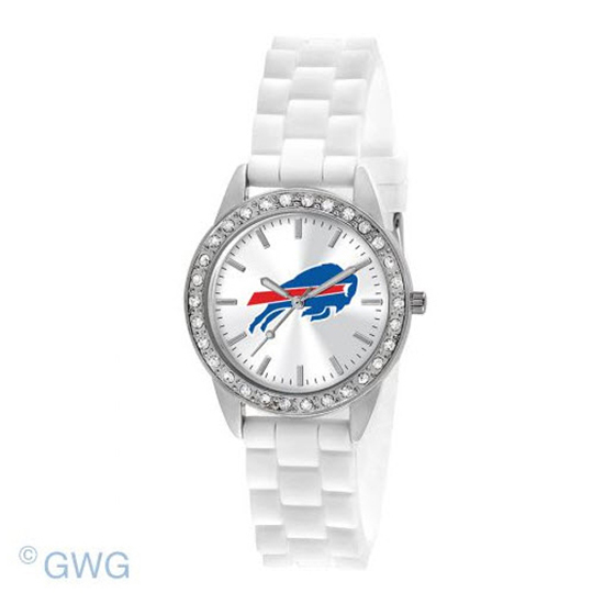 Buffalo Bills Game Time NFL Frost White Silicone Women's Watch MTO