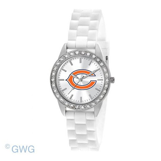 Chicago Bears Game Time NFL Frost White Silicone Women's Watch MTO