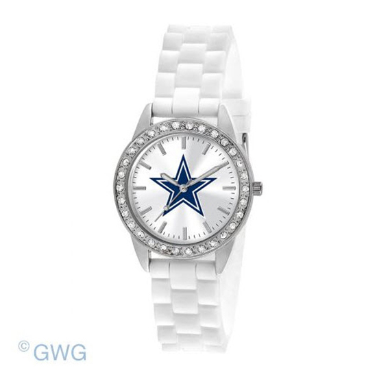 Dallas Cowboys Game Time NFL Frost White Silicone Women's Watch MTO