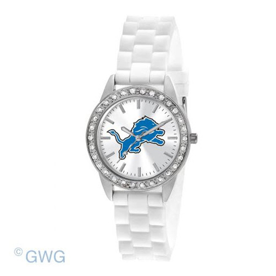 Detroit Lions Game Time NFL Frost White Silicone Women's Watch MTO
