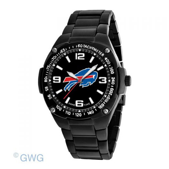 Buffalo Bills NFL Gladiator Game Time Black IP Men's Bracelet Watch MTO