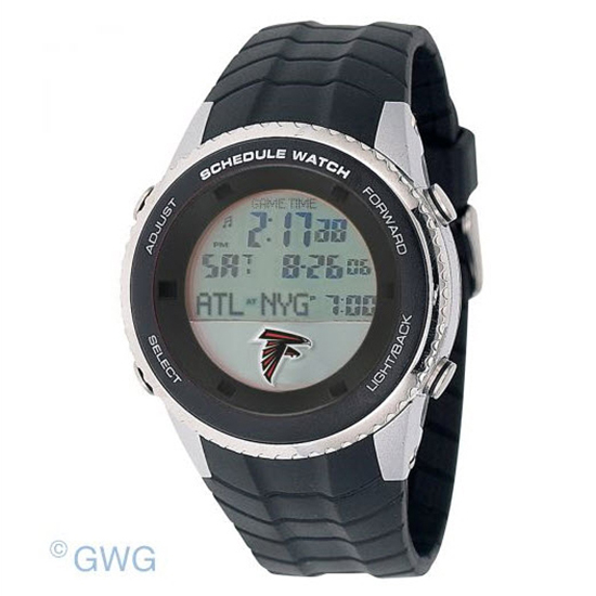 Atlanta Falcons Game Time NFL Schedule Digital Black Men's Watch MTO