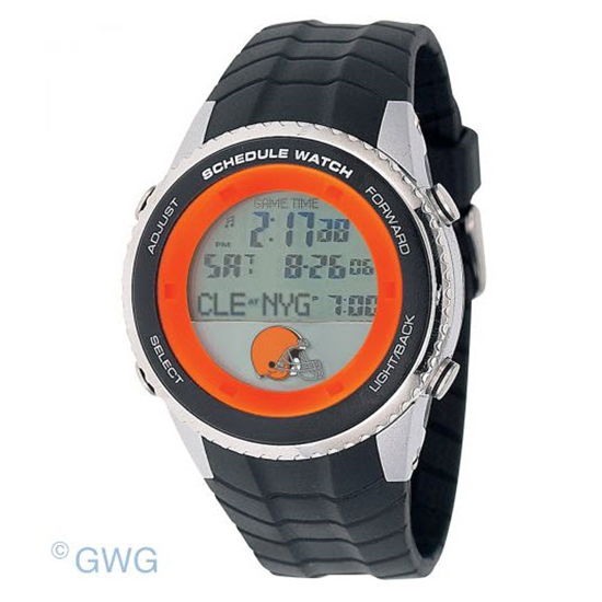 Cleveland Browns Game Time NFL Schedule Digital Black Men's Watch MTO
