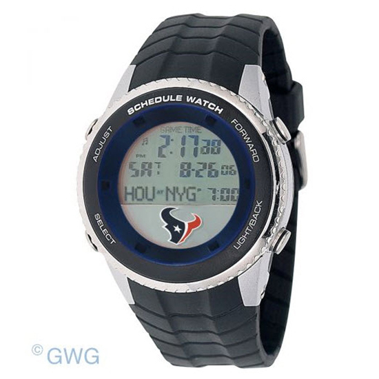 Houston Texans Game Time NFL Schedule Digital Black Men's Watch MTO
