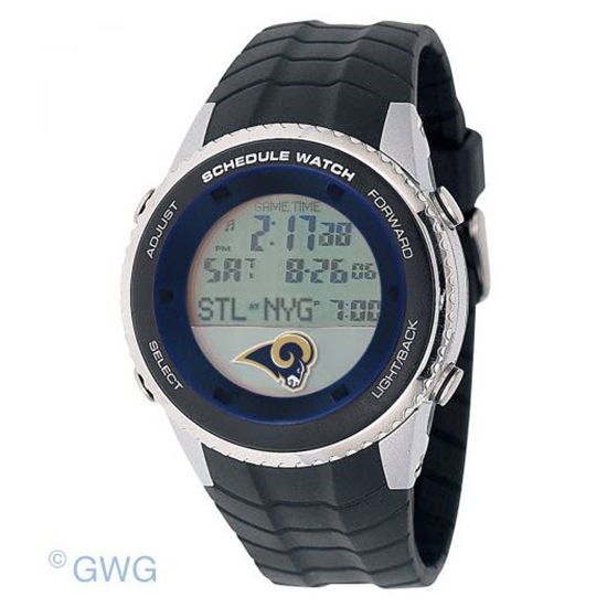 St Louis Rams Game Time NFL Schedule Digital Black Men's Watch MTO