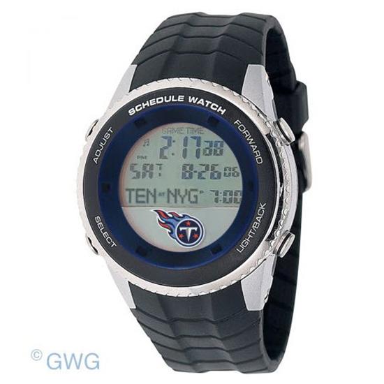 Tennessee Titans Game Time NFL Schedule Digital Black Men's Watch MTO