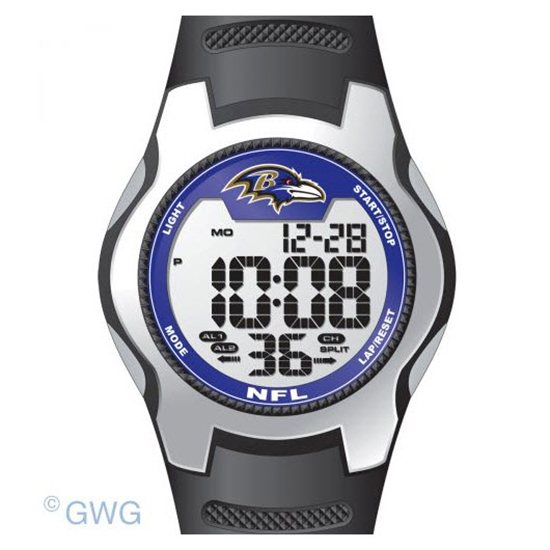Baltimore Ravens Game Time NFL Training Camp Digital Men's Watch MTO