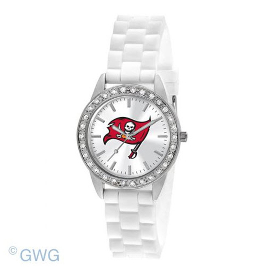 Tampa Bay Buccaneers Game Time NFL Frost White Silicone Women's Watch MTO